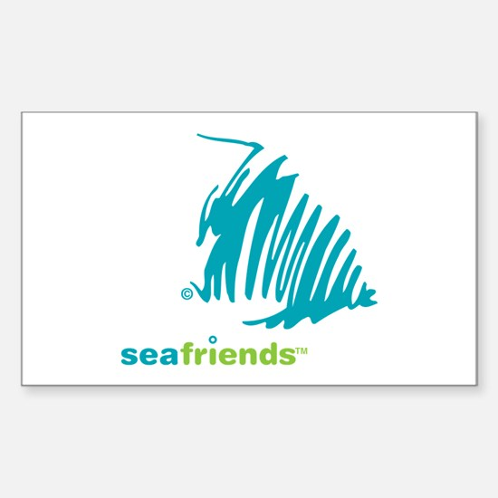 SeaFriends-Angelfish Rectangle Decal
