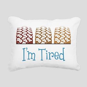 Im Tired Rectangular Canvas Pillow