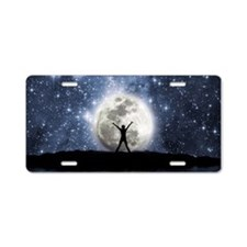 Between Heaven And Earth Aluminum License Plate