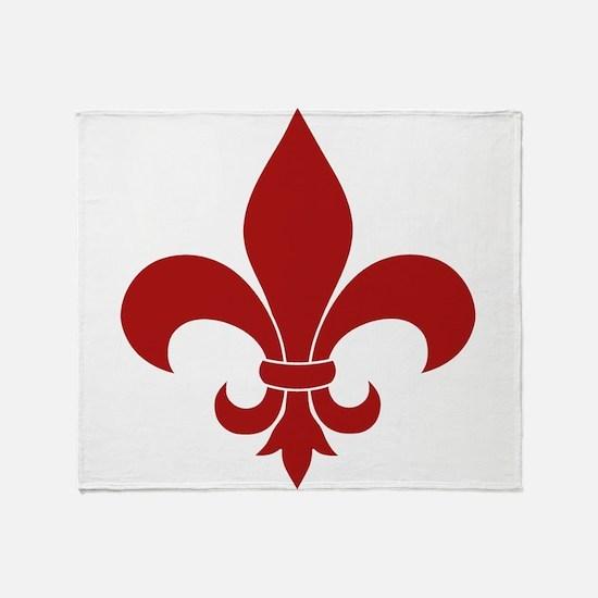 Fleur de lis French Pattern Parisian Design Throw