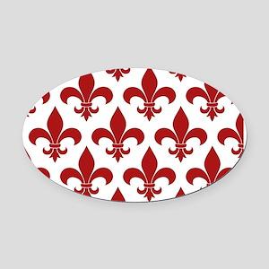 Fleur de lis French Pattern Parisian Design Oval C