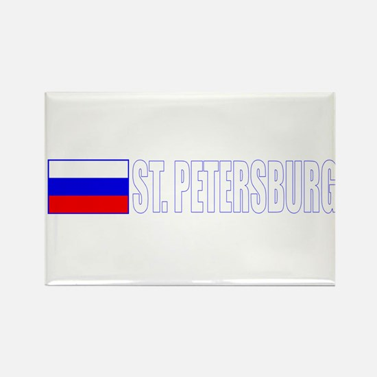 St. Petersburg, Russia Rectangle Magnet