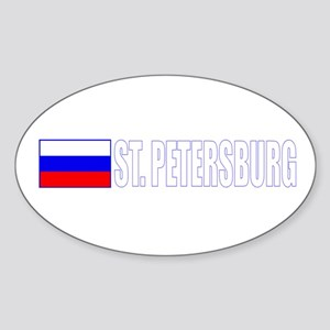 St. Petersburg, Russia Oval Sticker