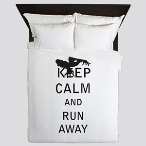 Keep Calm and Run Away Queen Duvet