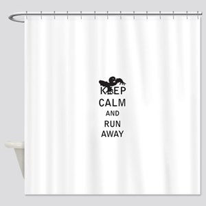 Keep Calm and Run Away Shower Curtain