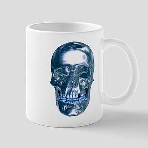 Blue Chrome Skull Mugs