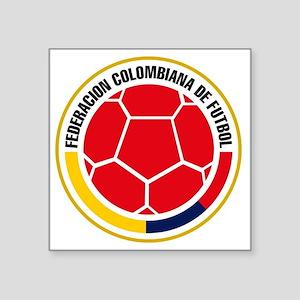 """Futbol de Colombia Square Sticker 3"""" x 3"""""""