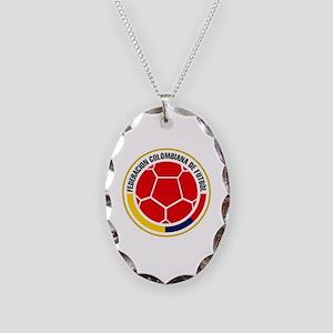 Futbol de Colombia Necklace Oval Charm
