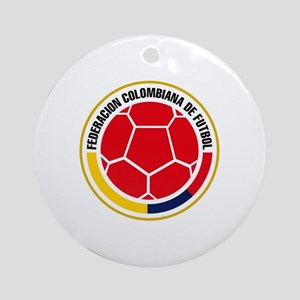 Futbol de Colombia Round Ornament