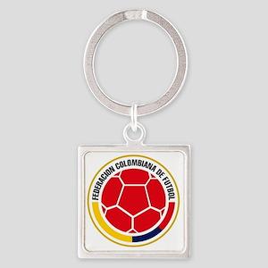 Futbol de Colombia Square Keychain