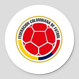 Futbol de Colombia Round Car Magnet
