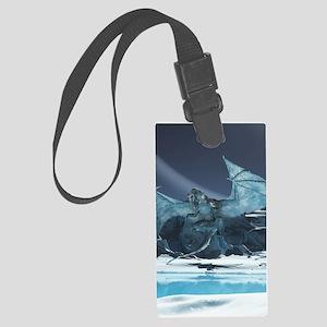 Ice Dragon Luggage Tag