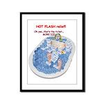 Hot Flash Tub of Ice Framed Panel Print