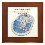 Hot Flash Tub of Ice Framed Tile