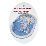Hot Flash Tub of Ice Oval Ornament