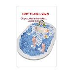 Hot Flash Tub of Ice Mini Poster Print