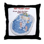 Hot Flash Tub of Ice Throw Pillow