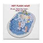 Hot Flash Tub of Ice Tile Coaster