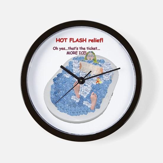 Hot Flash Tub of Ice Wall Clock