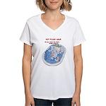 Hot Flash Tub of Ice Women's V-Neck T-Shirt