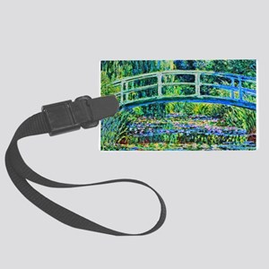 Monet - Water Lily Pond Large Luggage Tag