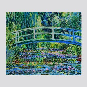 Monet - Water Lily Pond Throw Blanket