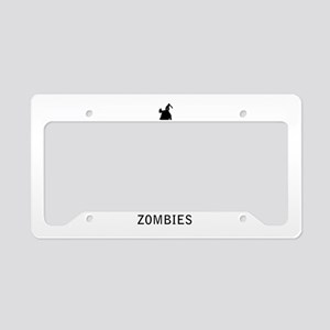 Keep Calm and Kill Some Zombies License Plate Hold