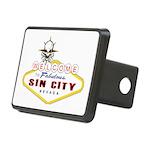 Las Vegas-Sin City Sign-2 Rectangular Hitch Cover