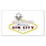 Las Vegas-Sin City Sign-2 Sticker