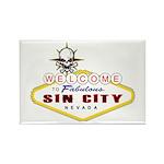 Las Vegas-Sin City Sign-2 Magnets