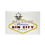 Las Vegas-Sin City Sign-2 Magnets