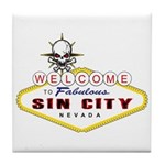 Las Vegas-Sin City Sign-2 Tile Coaster