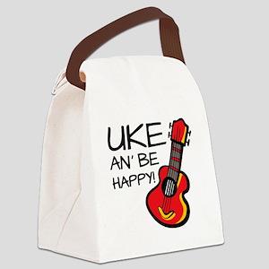 UkeHappyOutline Canvas Lunch Bag