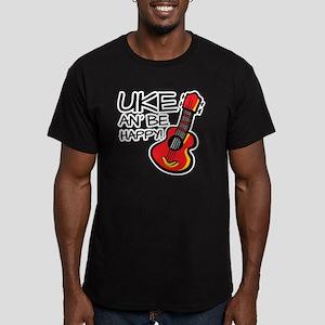 UkeHappyOutline Men's Fitted T-Shirt (dark)