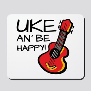 UkeHappyOutline Mousepad