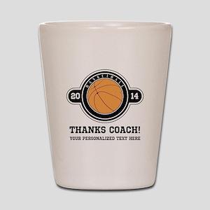 Thank you basketball coach Shot Glass