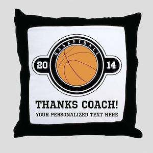 Thank you basketball coach Throw Pillow