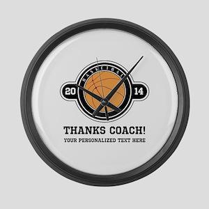Thank you basketball coach Large Wall Clock