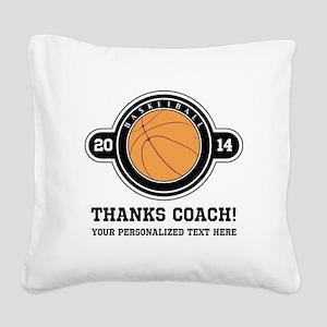 Thank you basketball coach Square Canvas Pillow