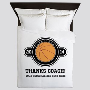Thank you basketball coach Queen Duvet