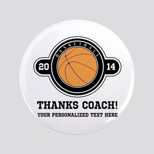 "Thank you basketball coach 3.5"" Button"