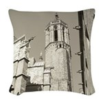 Gargoyles of La Catedral Woven Throw Pillow