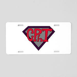 Superhero Technician Aluminum License Plate