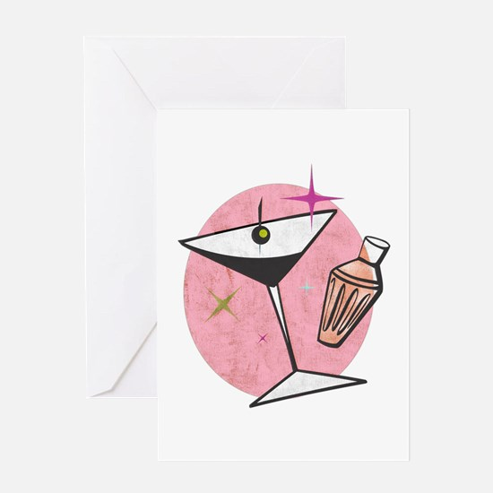 Martini Pomegrante Card Greeting Cards
