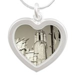 Gargoyles of La Catedral Silver Heart Necklace