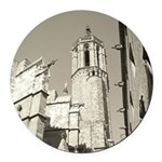 Gargoyles of La Catedral Round Car Magnet