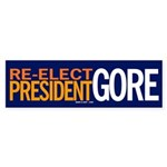 Re-elect President Gore sticker