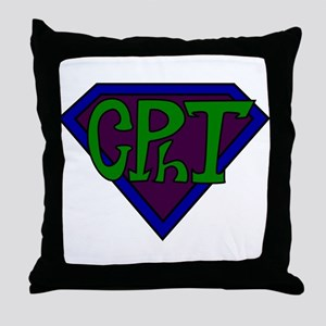 Superhero Technician Throw Pillow