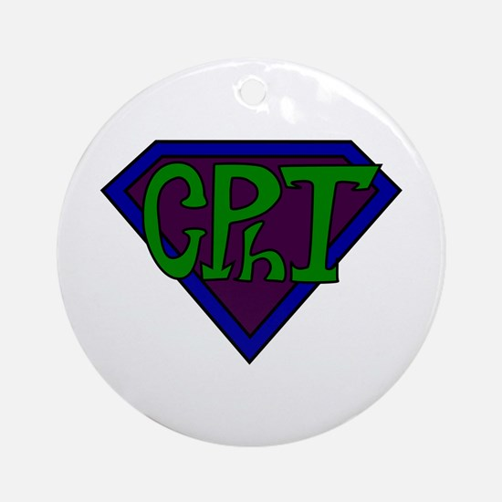Superhero Technician Ornament (Round)