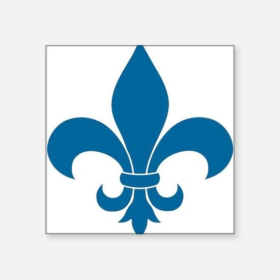 Blue Fleur de lis French Pattern Parisian Design S